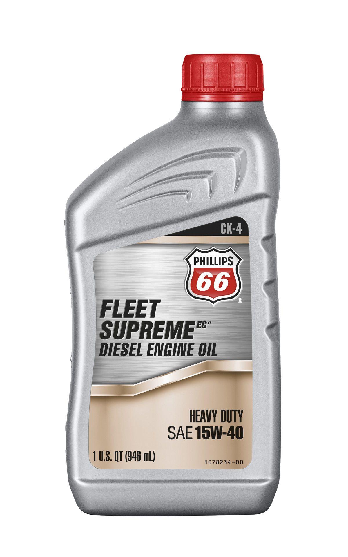 Buy phillips 66 fleet supreme 15w40 engine oil online for Buy motor oil online
