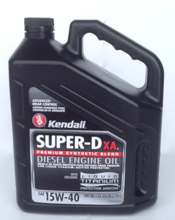 Buy kendall super d xa 15w40 diesel engine oil online for Why use synthetic blend motor oil