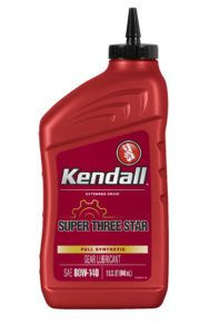 Kendall Super 3 Star Synthetic Gear Lube 80W140