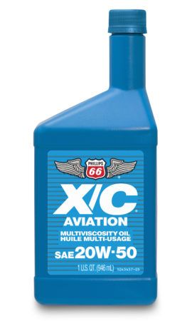 Phillips 66 X/C 20W50 Aviation Oil