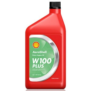 SHELL AEROSHELL W100 PLUS AVIATION OIL