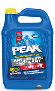 Peak Long Life Prediluted Yellow Antifreeze