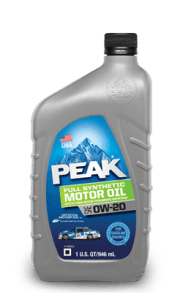 PEAK FULL SYNTHETIC 0W20 MOTOR OIL