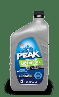 PEAK FULL SYNTHETIC 0W20 MOTOR OIL