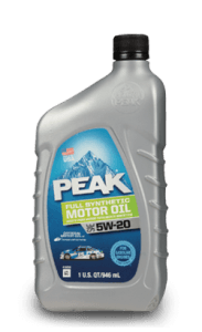 PEAK FULL SYNTHETIC 5W20 MOTOR OIL