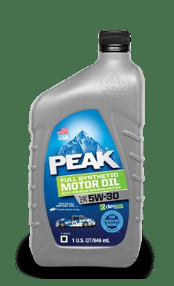 Peak Full Synthetic 5W30 Motor Oil