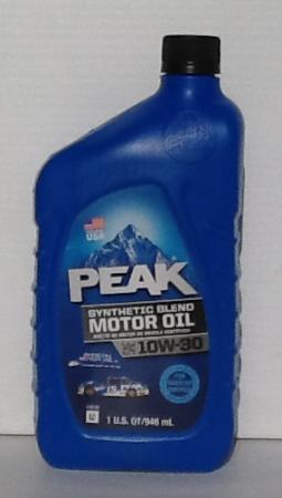 Peak Synthetic Blend 10W30 Motor Oil