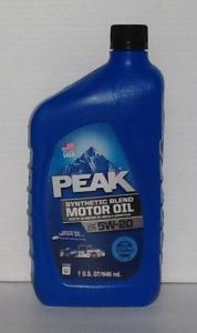 Peak Synthetic Blend 5W20 Motor Oil