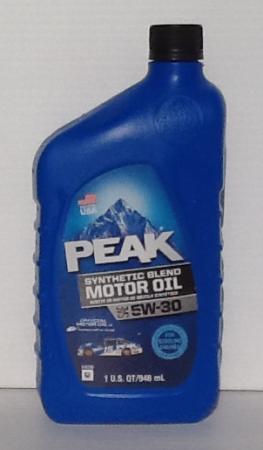 Peak Synthetic Blend 5W30 Motor Oil