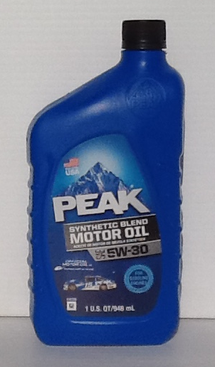 buy peak synthetic blend 5w30 motor oil 6 1 qts case