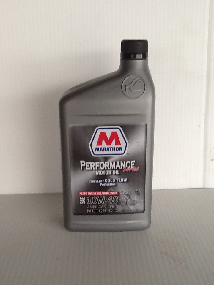 Buy marathon conventional 10w40 motor oil 12 1 qts case for Case of motor oil prices